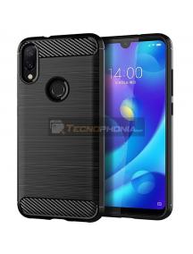 Funda TPU carbon Xiaomi Redmi 7 negra