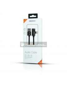 Cable USB iPhone Lightning Jellico K18 + adaptador mini jack 3.5mm