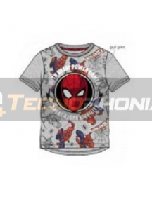 Camiseta niño manga corta Spiderman - cara gris T.128