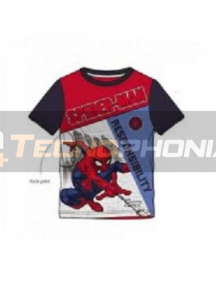 Camiseta niño manga corta Spiderman - Responsability 10 años 140cm