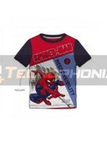 Camiseta niño manga corta Spiderman - Responsability 6 años 116cm