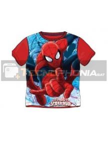 Camiseta niño manga corta Spiderman roja 12 años
