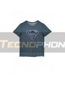 Camiseta adulto manga corta Superman azulada Talla L