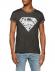 Camiseta adulto manga corta Superman gris Talla M