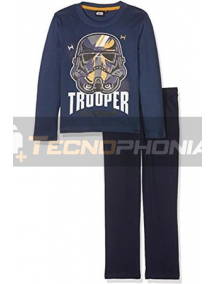 Pijama manga larga niño Star Wars - Trooper 12 años 152cm