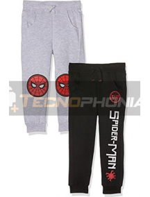 Pantalon chandal niño Spiderman NEGRO 10 años 140cm