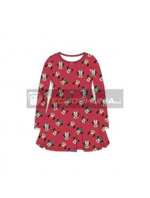 Vestido niña manga larga Minnie Mouse rojo 4 años