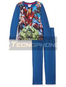 Pijama manga larga niño Los Vengadores azul 12 años 152cm