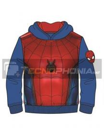Sudadera Spiderman azul - roja 10 años