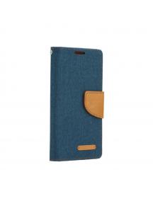 Funda libro TPU Canvas Samsung Galaxy A50 A505 azul marino