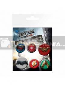 Pack de 6 chapas La Liga de la Justicia