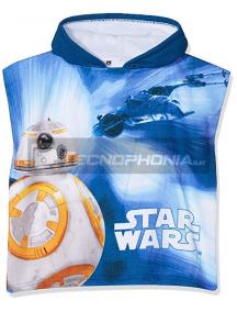 Poncho con capucha Stars Wars - BB-8 azul