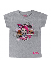Camiseta niña manga corta LOL Surprise - Rock gris 6 años