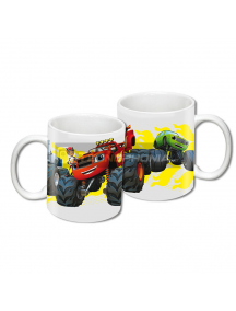 Taza cerámica 300ML Blaze y los Monster Machines blanca