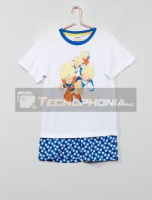 Pijama manga corta niño Dragon Ball Z blanco 4 años