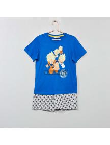 Pijama manga corta niño Dragon Ball azul 10 años