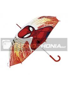 Paragua Manual Transparente Spiderman Marvel 46cm rojo