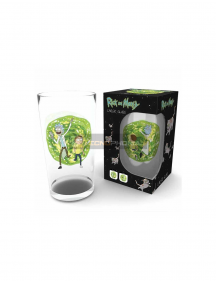 Vaso de cristal 500ml Rick and Morty