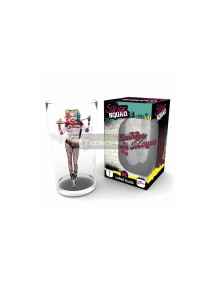 Vaso de cristal 500ml DC Comics - Escuadrón Suicida Harley Quinn - Daddy's Lil Monster