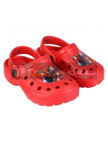 Zuecos infantil Spiderman rojo Talla 24 - 25