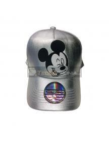 Gorra Diseño Mickey Plateada