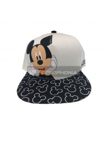 Gorra Diseño Mickey Negra visera plana