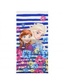 Toalla microfibra de playa Frozen - Elsa y Anna flores