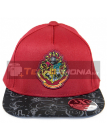 Gorra Harry Potter - Hogwarts burdeos - negro estampado 56cm