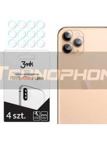 Lámina de cristal templado flexible 3MK para lente de cámara iPhone 11 Pro - 11 Pro Max