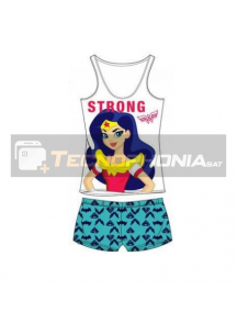 Pijama niña verano Super Hero Girls - Wonder Woman Strong 4 años