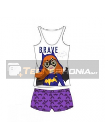 Pijama niña verano Super Hero Girls - Batgirl Brave 6 años