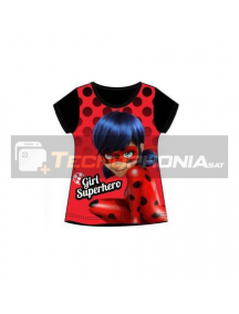 Camiseta niña manga corta Lady Bug - Girl Superhero 6 años