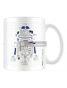 Taza cerámica Star Wars Episodio 8 R2D2 Exploded View