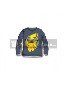 Camiseta infantil manga larga Pokemon - Pikachu 12 años