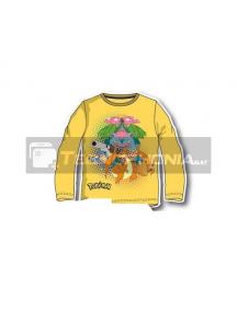 Camiseta infantil manga larga Pokemon - Pikachu amarila 8 años