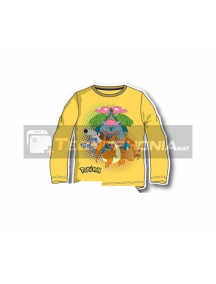 Camiseta infantil manga larga Pokemon - Pikachu amarila 12 años