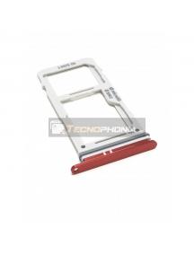 Zócalo de SIM + SD Samsung Galaxy S10 Plus G975U rojo MODELO USA