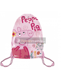 Saco mochila Peppa Pig 33x44cm