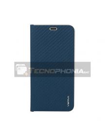 Funda libro Vennus Carbon Samsung Glaxy A40 A405 azul marino