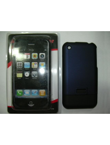 Protector de pasta Apple iPhone azul - negro