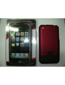 Protector de pasta Apple iPhone rojo - negro
