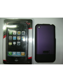 Protector de pasta Apple iPhone lila - negro
