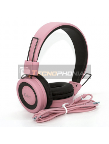 Auriculares GJBY GJ-14 rosa