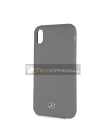 Funda fibra de silicona Mercedes MEHCI61SILGR iPhone XR gris