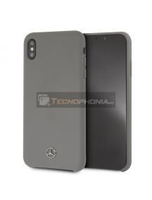 Funda fibra de silicona Mercedes MEHCI65SILGR iPhone XS Max gris
