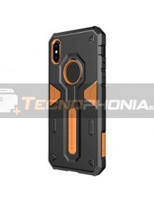 Funda Nillkin Defender II iPhone XR negra - naranja