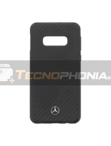 Protector trasero rígido Mercedes Dynamic Line MEHCS10LSRCFBK Samsung Galaxy S10e G970 negra