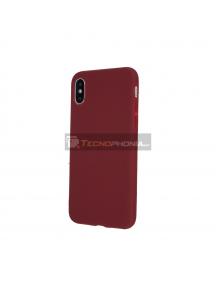 Funda TPU Matt Huawei P Smart Z - Honor 9X - Y9 Prime 2019 burdeos