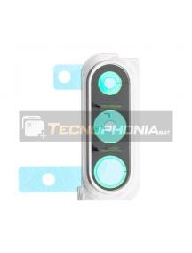Embellecedor de cámara Samsung Galaxy A30s A307 blanco