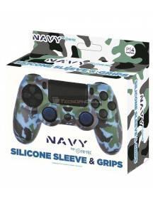 Funda de silicona + Grips Camo azul Fr-tec para Mando PS4